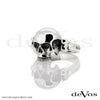 Skull (Small Half Skull) Ladies Ring