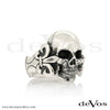 Skull (Medium Full Skull with Fleur de Lis) Ring