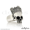 Skull (Medium Half Skull with Crown) Ring
