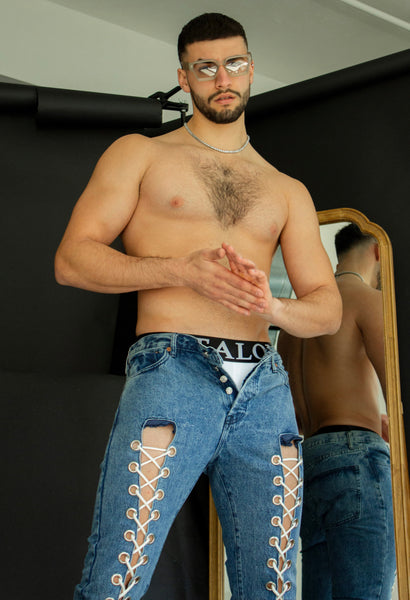 Blue Laced Jeans
