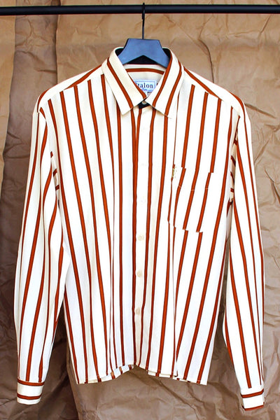 Burnt Orange Stripe Shirt