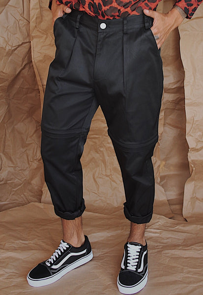 Black Convertible Trouser/ Short