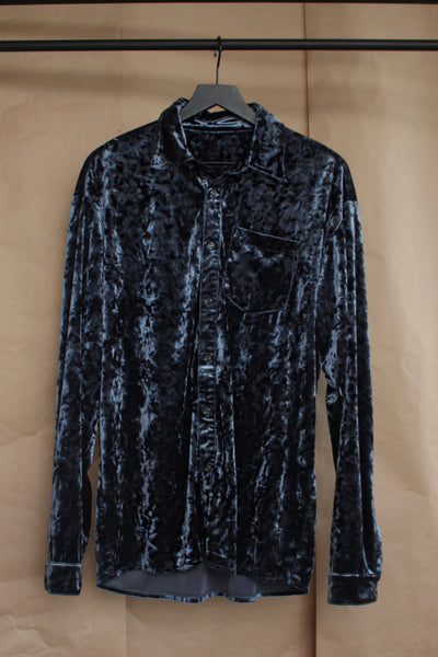 Blue Velvet Convertible Shirt