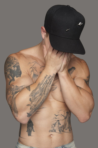 Black Signature Pin Hat