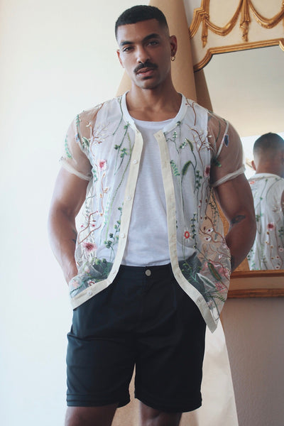 Floral Illusion Baseball Jersey