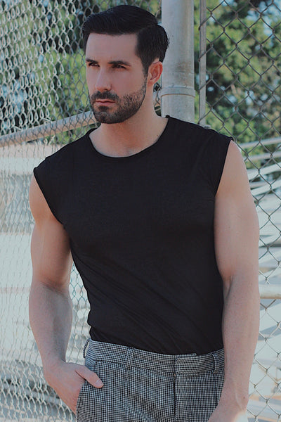 Sleeveless Not So Basic Black Tee