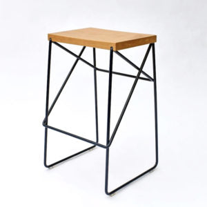 Karapiro Stool - Black
