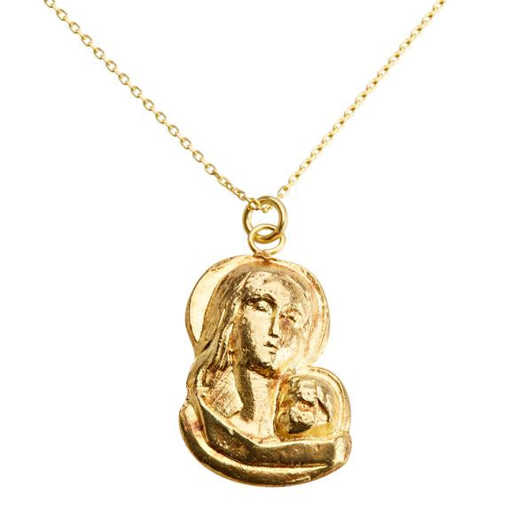 Mother Mary & Child Pendant