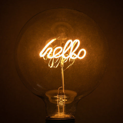 Neon Bulb - Hello Hello WW Upright