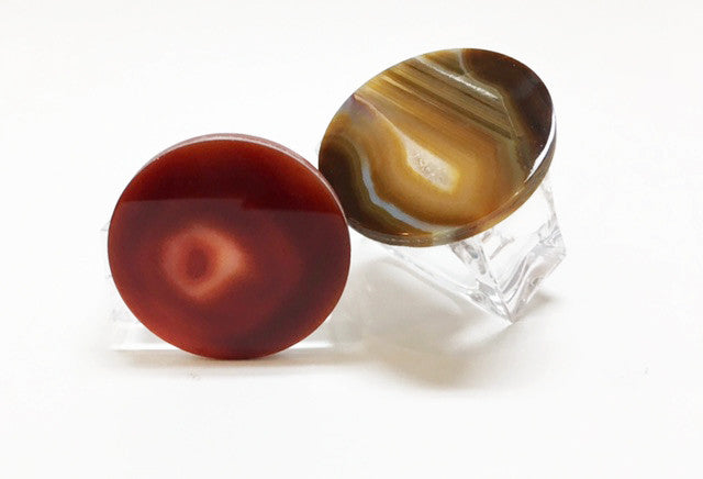 Natural Agate Disc Napkin Rings