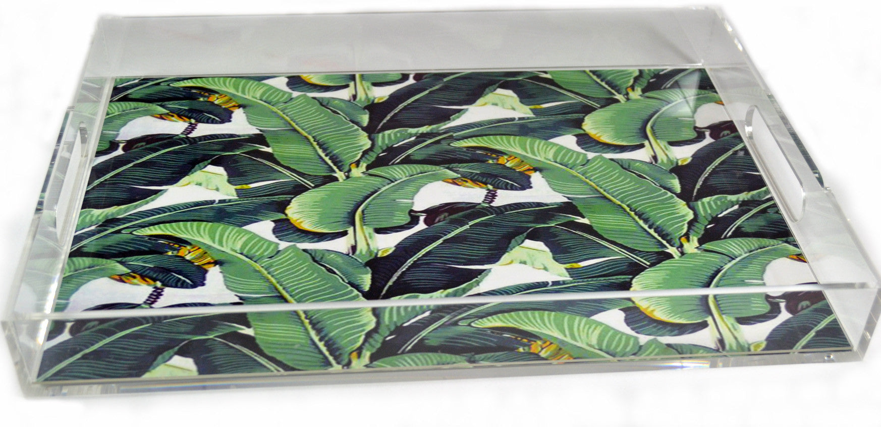 Acrylic Serving Leaf Tray