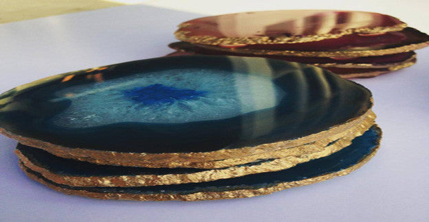 Agate Coasters w/ Gilded Edges