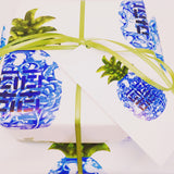Chinoiserie Pineapple Gift Wrap
