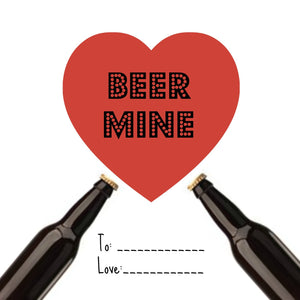 Free Valentine Day Cards: Beer Theme
