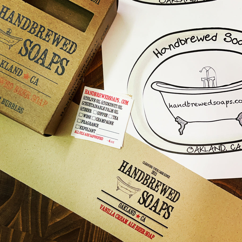 Handbrewed Soaps Packaging Through The Years!