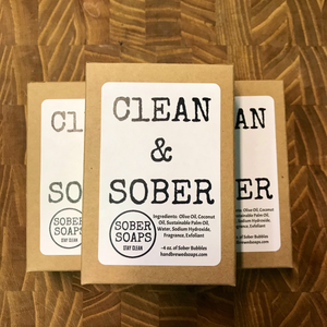 sober soaps, recovery gift, recovery soap