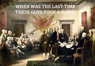 bathing habits of the founding fathers