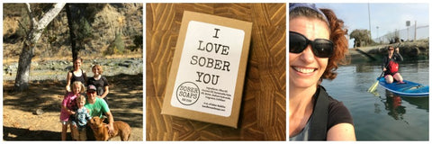 I love sober you, recover gift, sober soaps
