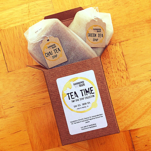Tea Soap Collection - Green Tea Soap - Chai Tea Soap