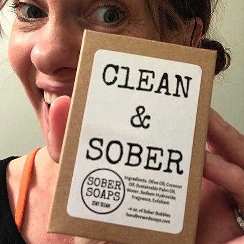 clean and sober, sober soaps, recovery gift, recovery soap