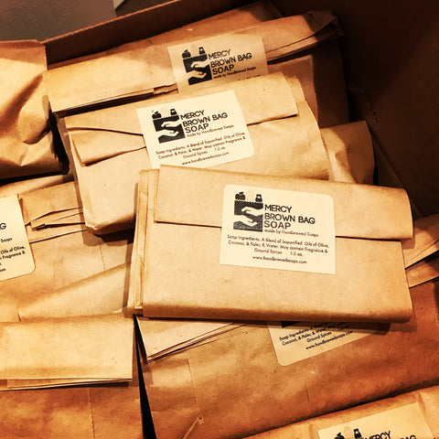 mercy brown bag soap, Oakland Soap, Keep Oakland Healthy Soap