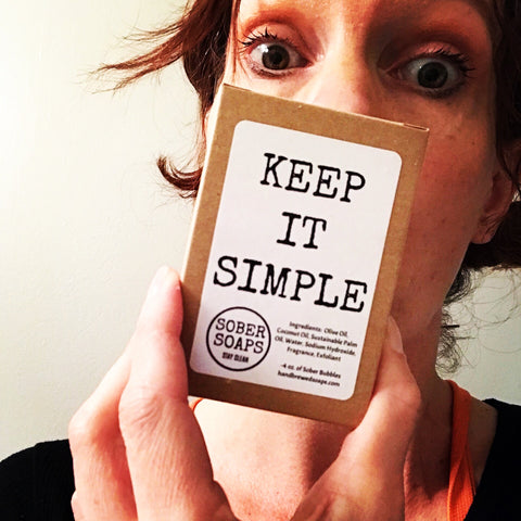 sober soaps, recovery gift, Keep it Simple