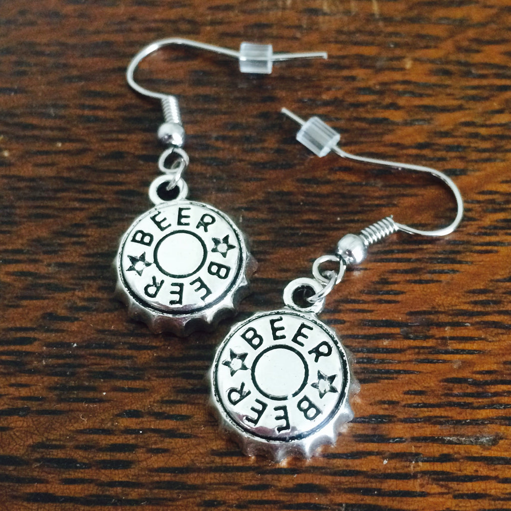 Silver Beer Earrings