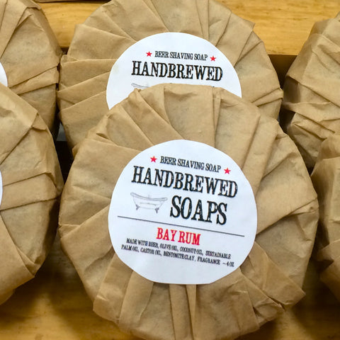 Homebrewed Beer Shaving Soap (Bay Rum) Refill