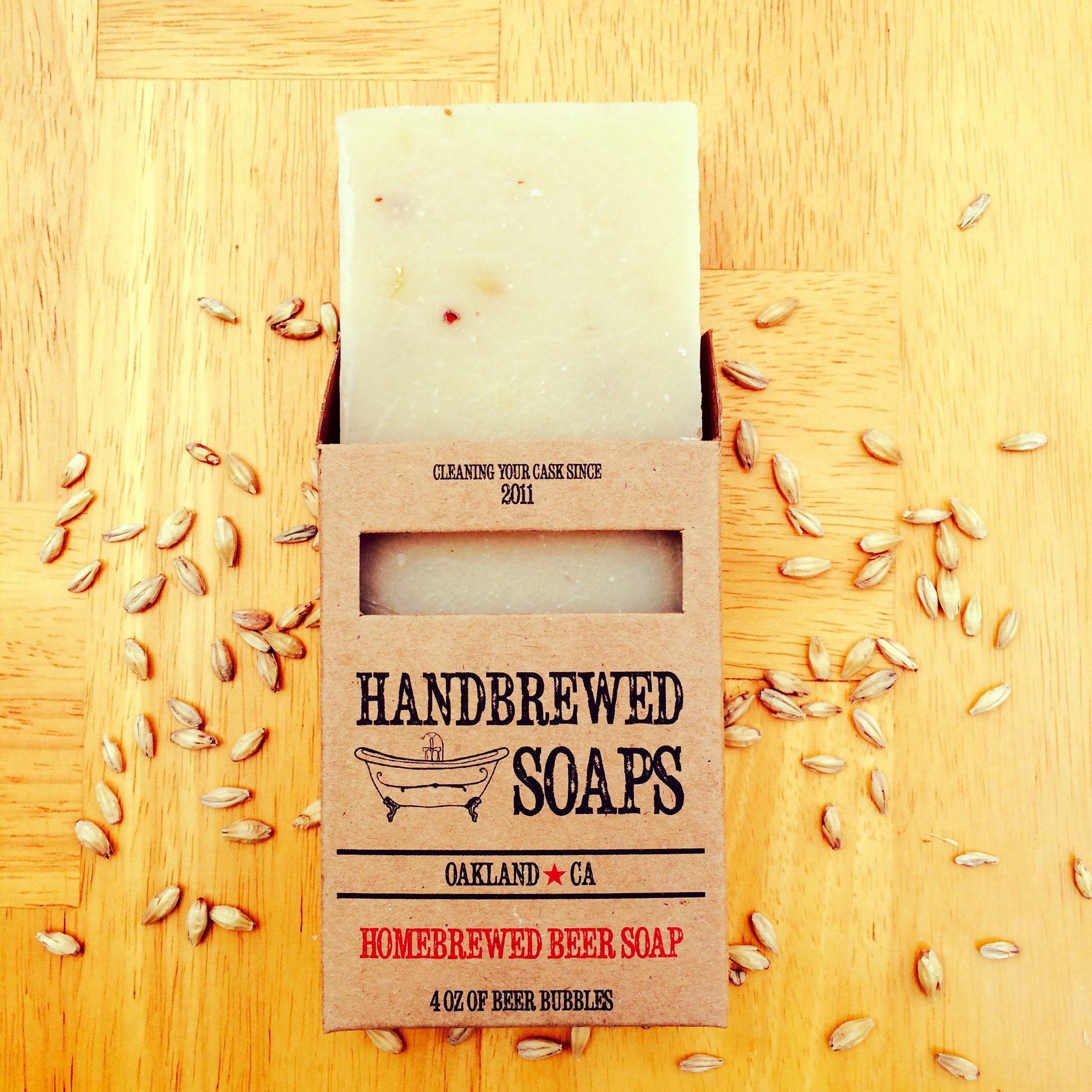 Homebrewed Spiced Ale Beer Soap made with spent grains