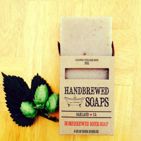 Homebrewed IPA Beer Brew Soap Made with Hops, beer soap