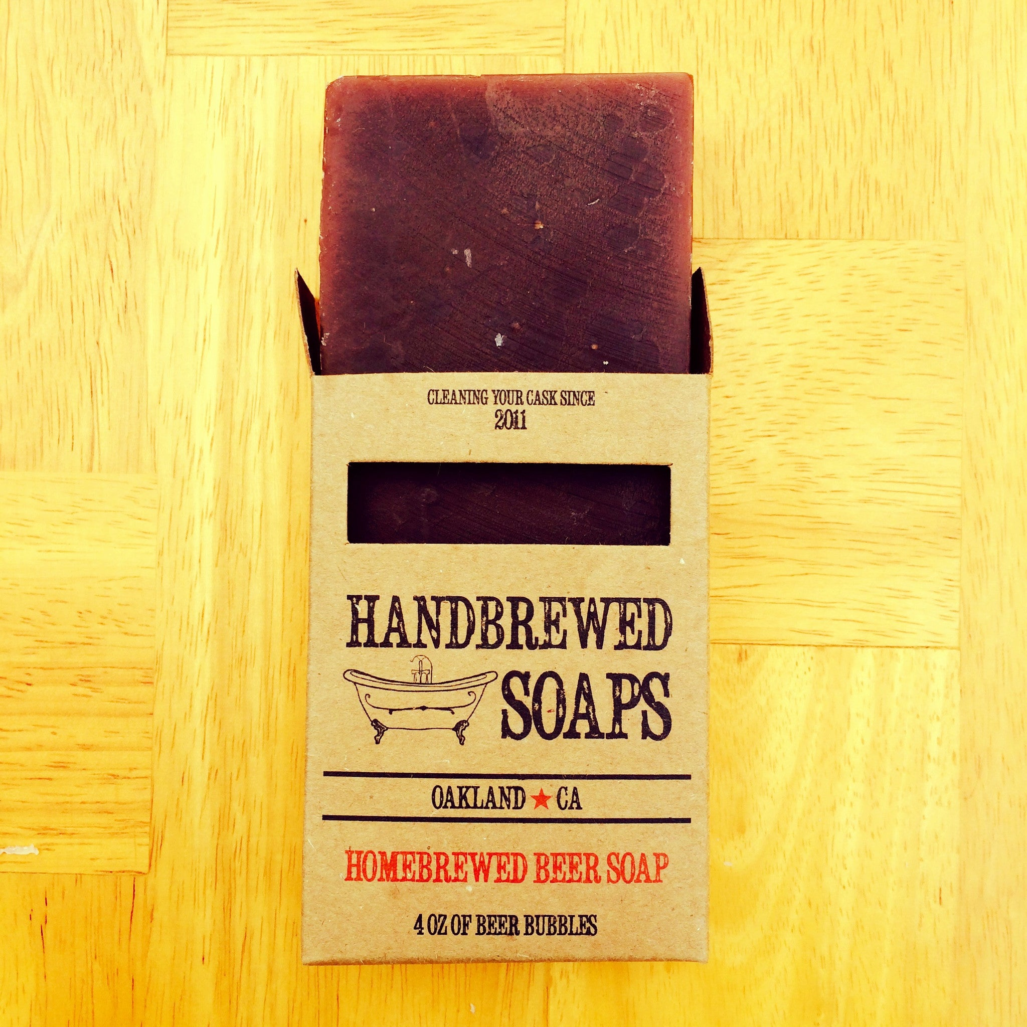 Homebrewed Oatmeal Stout Beer Soap, beer soap