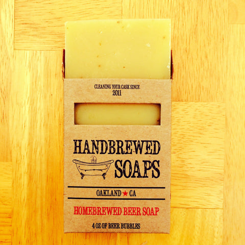 Orange Ale Homebrewed Beer Soap Ground Orange Exfoliant