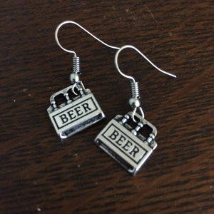 Six Pack Beer Earrings