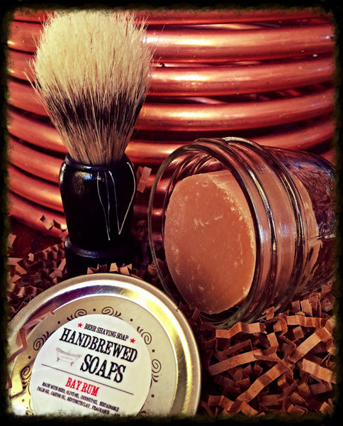 Homebrewed Beer Shaving Soap Kit (Bay Rum)