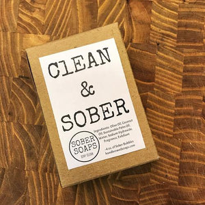 sober soap, recovery gift, gift for people in recovery, recovery soap