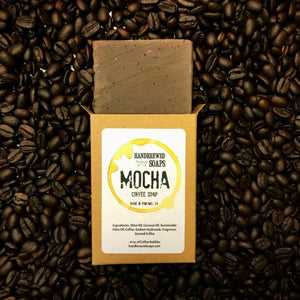mocha coffee soap, coffee soap, mocha soap