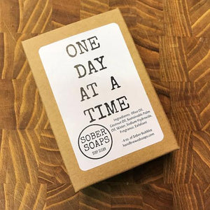 one day at a time, recovery gift, sober soaps, sober soap