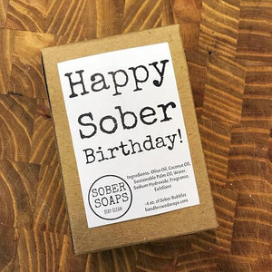 sober soap, recovery gift, gift for people in recovery, recovery soap, sober lifestyle