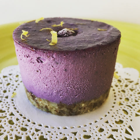 Organic Vegan Blueberry 'Cheesecake'