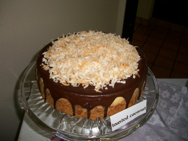 Chocolate Toasted Coconut Cheesecake