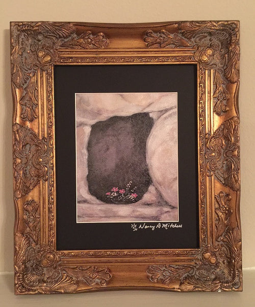 11x14 matted Art Print: Textured art print autographed by the artist, Nancy D. Mitchell
