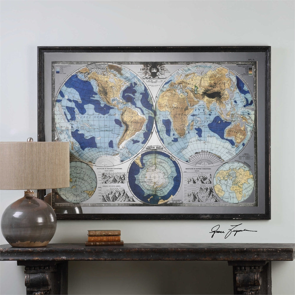 World Map Mirror