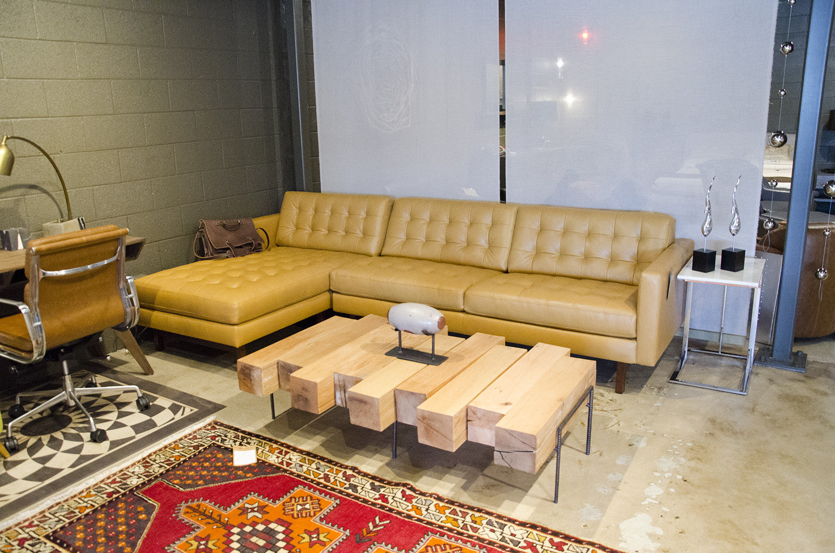 Softest Leather Sectional