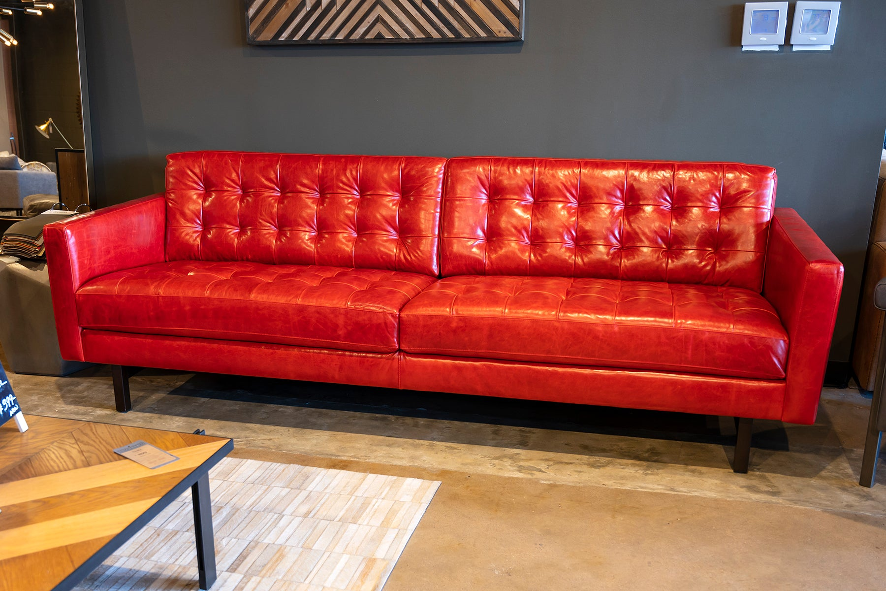 Magnificent The Custom Modern Leather Sofa By American Leather At Solid Evergreenethics Interior Chair Design Evergreenethicsorg