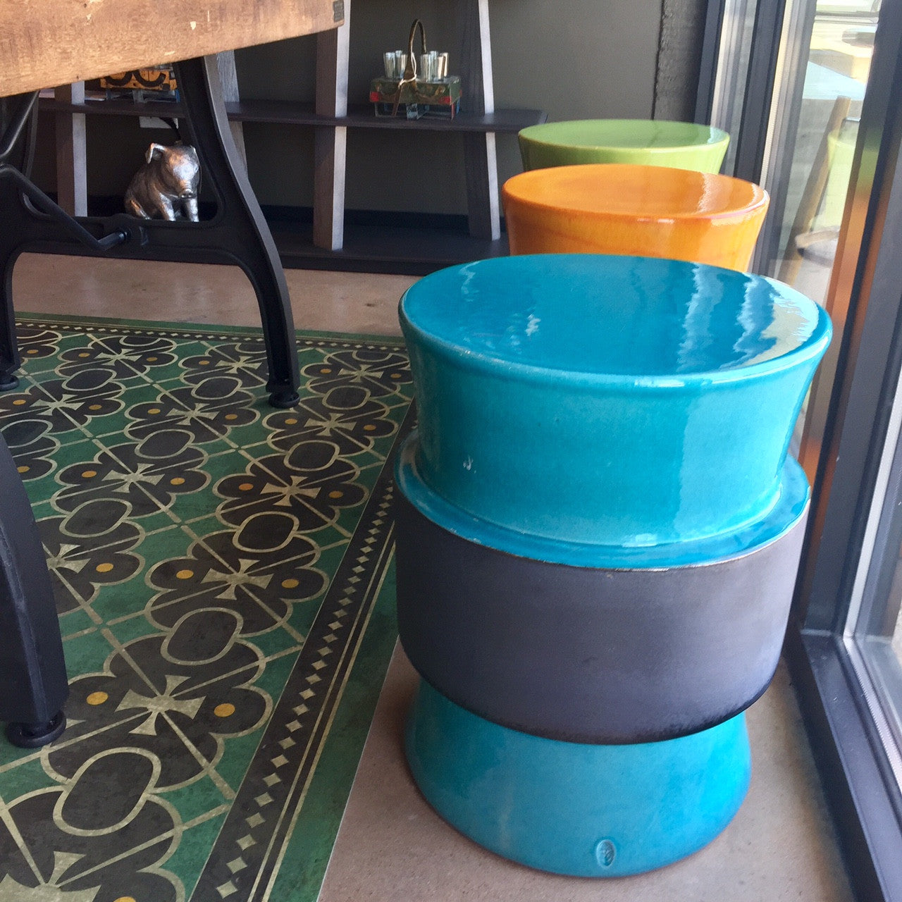 Ceramic Mooring Stool