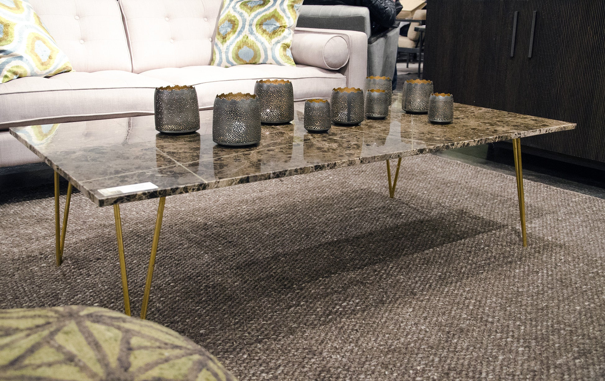 Leon stone top coffee table by dovetail at solid austin solid leon coffee table geotapseo Choice Image