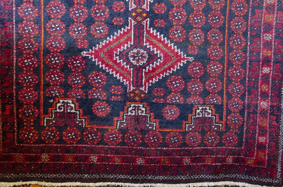 Red Afghan Pattern