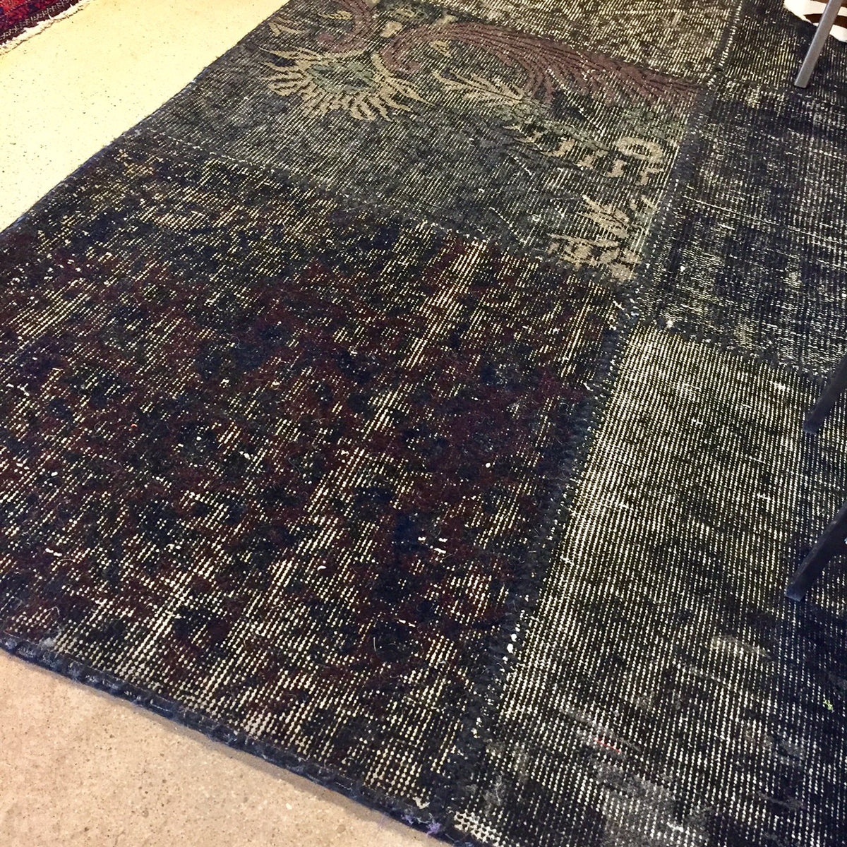 Ebony and Mahogany Vintage Patchwork Over Dye