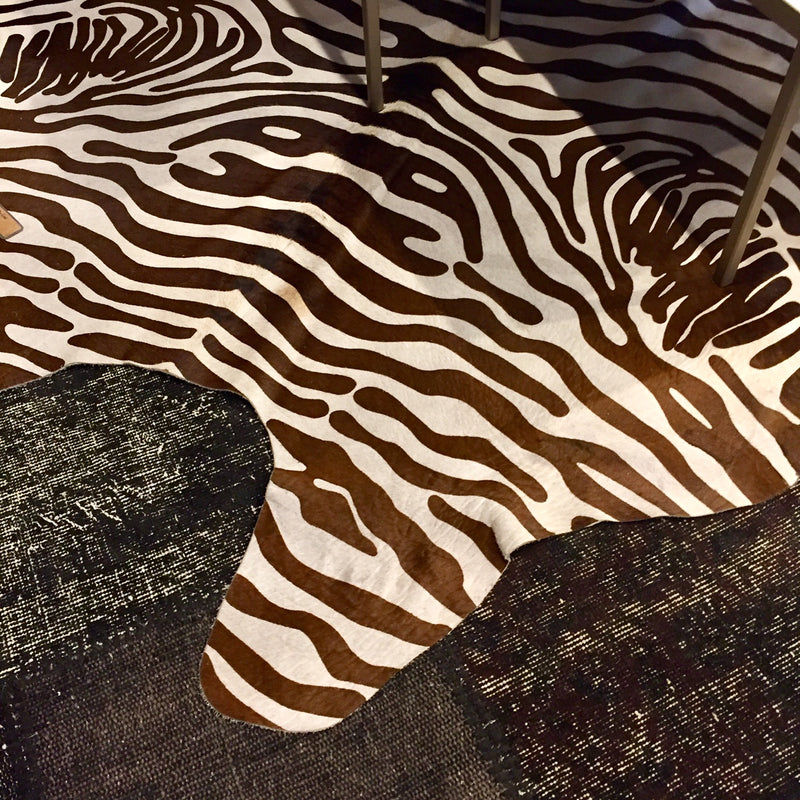 Tivona Faux Zebra Hair on Hide