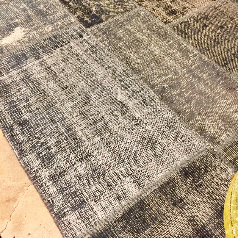 Slate Gray Vintage Patchwork Over Dye